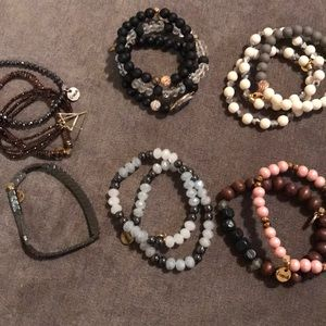 Fall Erimish bracelet stack of 15